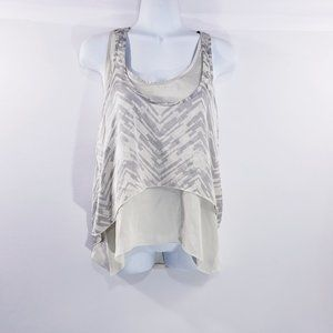 LC Lauren Conrad Womens Top Racerback Double Tank
